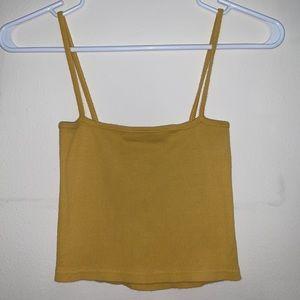 Brandy Melville yellow tank top